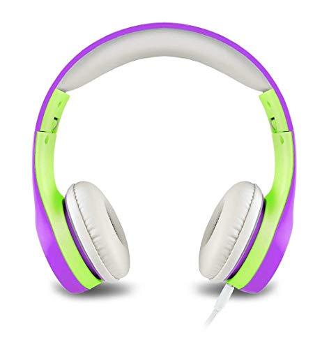 Nenos Children Headphones Kids Headphones Childrens Headphones Over Ear Headphones Kids Computer Volume Limited Headphones for Kids Foldable (Purple)