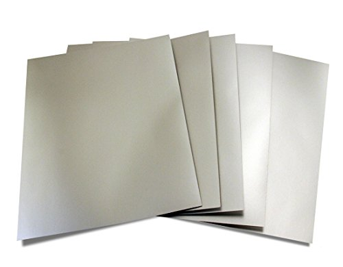(Hygloss Products Metallic Foil Board Sheets - 8.5 x 11 Inches – Matte Silver, 25 Pack)