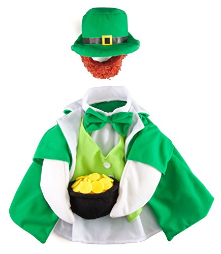 Fox Valley Traders Lucky Leprechaun Goose Outfit, St. Patrick's Day Costume for Lawn Décor, Polyester