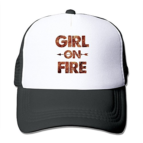 mesh-adjustable-unisex-cap-catching-fire-girl-on-fire-the-hunger-games-strapback-hat-cool-snapbacks