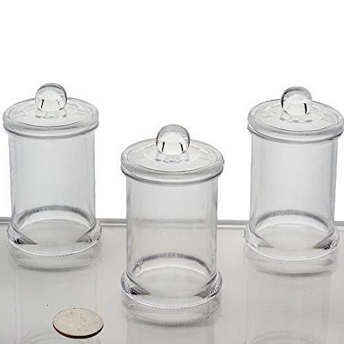 Mikash Favors Holders 6 oz Plastic Clear Favor Jars Wedding Party Home Decorations Sale | Model WDDNGDCRTN - 3337 | 144 pcs