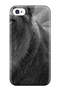 For Iphone 4/4s Premium Tpu Case Cover Lion Animal Lion Protective Case