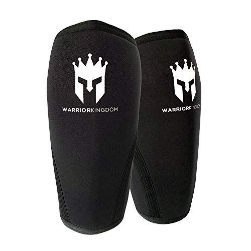 7mm Compression Neoprene Knee Sleeve Pair - Reduce Strain with Padded Brace for Crossfit, Powerlifting, Weightlifting, Basketball - Kids, Men, Women (X- Large)