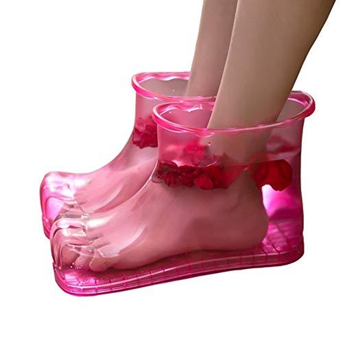 Masajeador Relajación Zapatillas pink Hw Botas Masaje Pie Blue Pies Baño Caliente Inicio Zapatos Cuidado De Acupresión OppFTRX