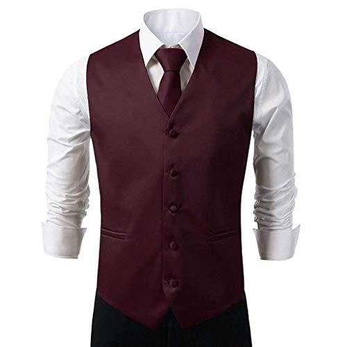 Costume Fit color Homme Yasminey Hanky Col Knoepproof Cravate avec V Violett 5 3xl En Pour Et Gilet Élégant Slim Jeune Tuxedo Boucle Size wpETHxCpUq