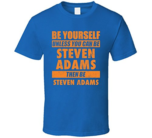Be Yourself Unless You Can Be Steven Adams Oklahoma City Basketball T Shirt XL Royal Blue