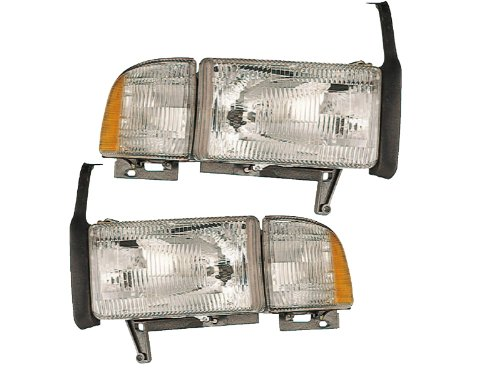 Dodge Ram Headlights OE Style Replacement Headlamps Driver/Passenger pair New W/O - Truck Dodge 2500 Ram Headlight