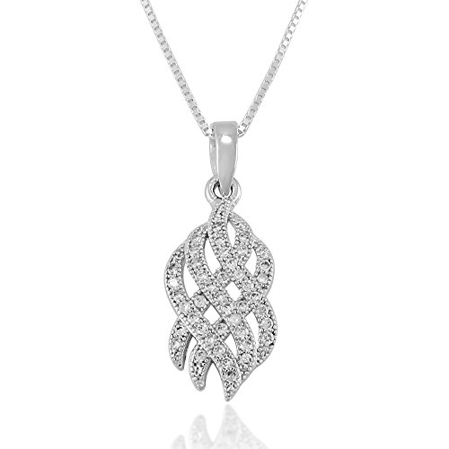 Chuvora 925 Sterling Silver Clear Cubic Zirconia CZ Cetic Knot Pendant Necklace, 18 inches (Cetic Knot)
