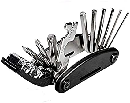 Steel 16 in 1 Multi-function Cycling Repair Tools Bicycle Tool Bike Riding Kits
