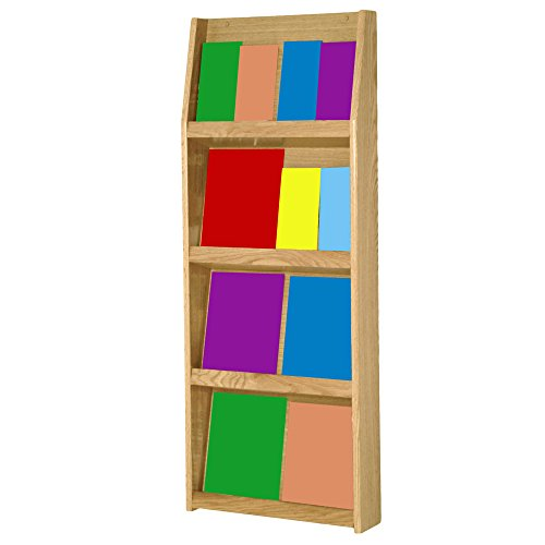 Wooden Mallet 16-Pocket Slope Literature Display, Light Oak by Wooden Mallet