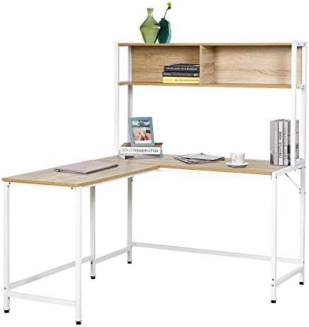 HOMCOM Home Office L-Shaped Computer Desk