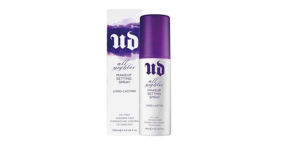 UD Urban All Nighter Makeup Setting Spray Original Formula, White Bottle 4 oz Full Size