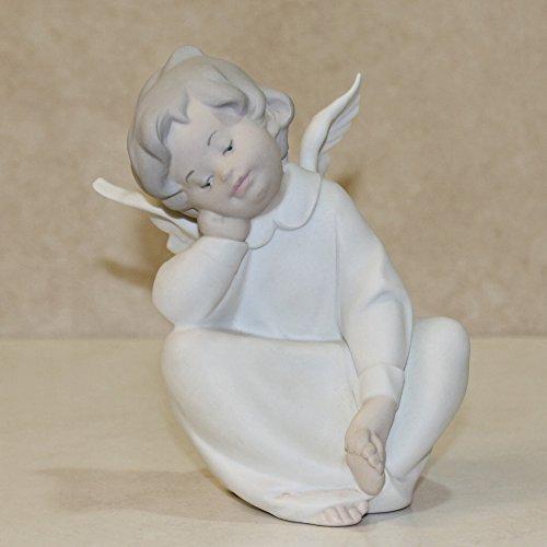 Lladro Figurine, 4961m Cherub Dreaming, 6