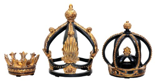 Sterling Home 91-0013 Decorative Crowns, Set of 3, Assorted Sizes