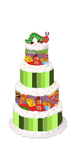 The Very Hungry Caterpillar 4-tier Diaper Cake by Just For Your Baby Boutique