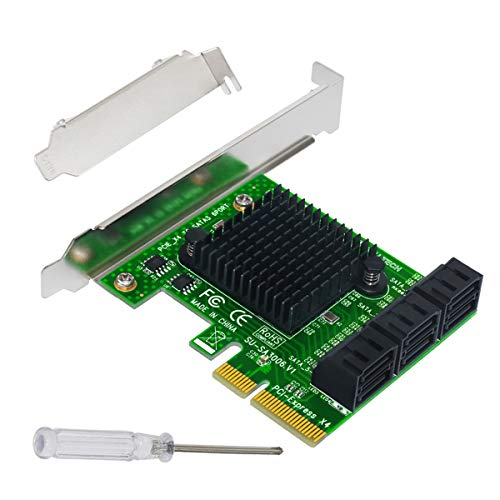 Expansion Card,Ubit Riser Card,PCIe 2.0 X2 to SATA III 6-Port Adapter Card (ASM Chipset) for IPFS Mining,Pci-e to SATA3.0 Expansion Card,SATA3.0 Riser Card 6G IPFS Hard Disk Expansion Card (Best Sata Expansion Card)