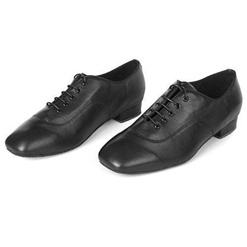 Roymall Mens Professional Latin Dance Shoes Ballroom Jazz Tango Waltz Performance Shoes Black-1 eRteMqSg85