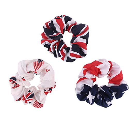 Amosfun 3pcs American Flag Hair Bands 4th of July Headband USA Flag Bandana Patriotic Hair Accessories for Independence Day 4th of July National Day