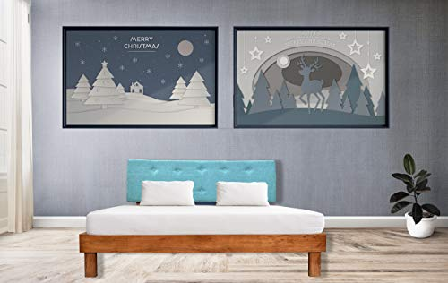 Livit'homes Rambo Acacia Wood Bed – Queen Size – Teak Finish