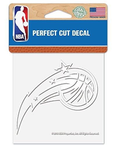 "WinCraft NBA Orlando Magic 4""x4"" inch White Decal Sticker"
