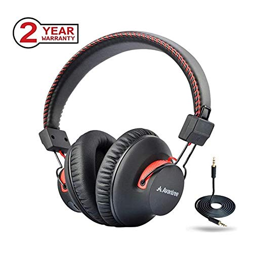 40 Hours Dual Mode Bluetooth Over Ear Headphones with Wireless & Wired