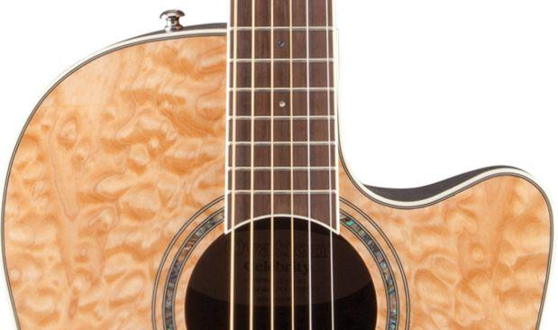 Amazon.com: Ovation CS24P-4Q Acoustic-Electric Guitar, Natural ... : quilted maple acoustic guitar - Adamdwight.com