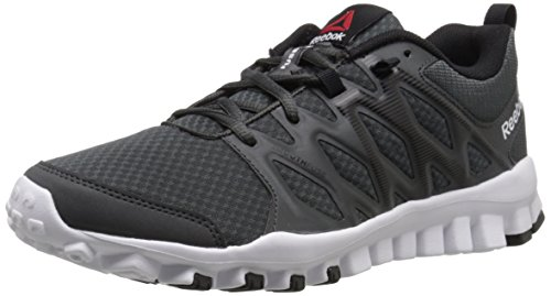 Reebok Women's Realflex 4.0 Training Shoe, Gravel/Black/White, 7 M US by Reebok
