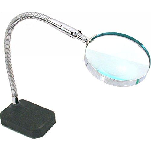 (2x Flexible Desktop Magnifier Jewelers Hands Free Tool)