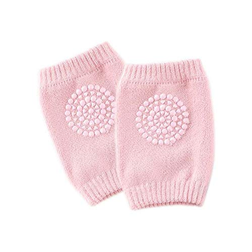 Xeminor Baby Knee Pads Soft Cotton Breathable Toddler Baby Knee Pad Suitable for Baby Crawling Knee Protective (1Pcs,Pink)