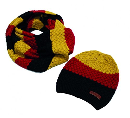 (Horseware Knitted Hat & Snood - Yellow /One Size)