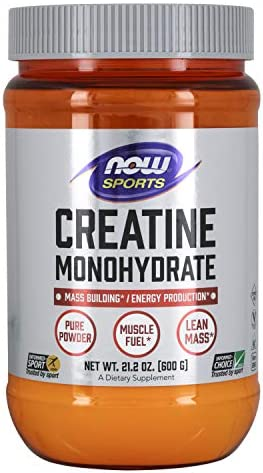NOW Sports Nutrition, Creatine Monohydrate Powder, Mass Building* Energy Production*, 21.2-Ounce