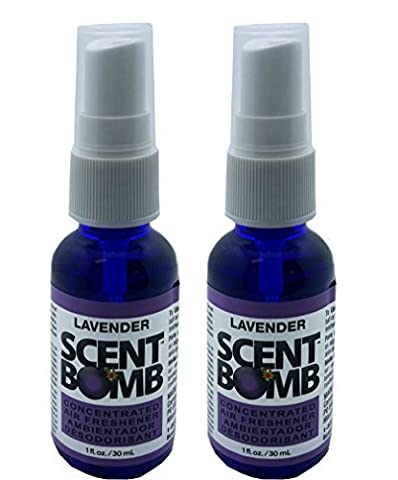 Scent Bomb Super Strong 100% Concentrated Air Freshener - 2 PACK (Lavender) (Scent Bomb Car Spray)