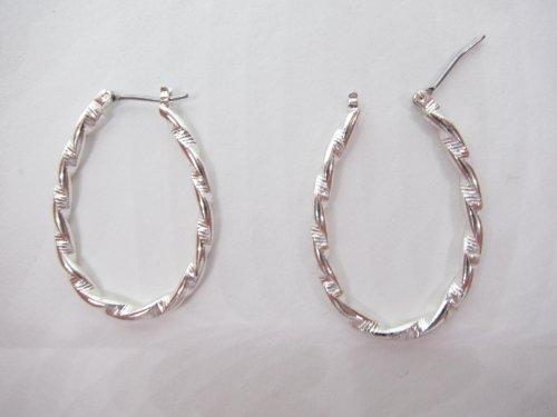 op Earrings with a Silver Twist ()