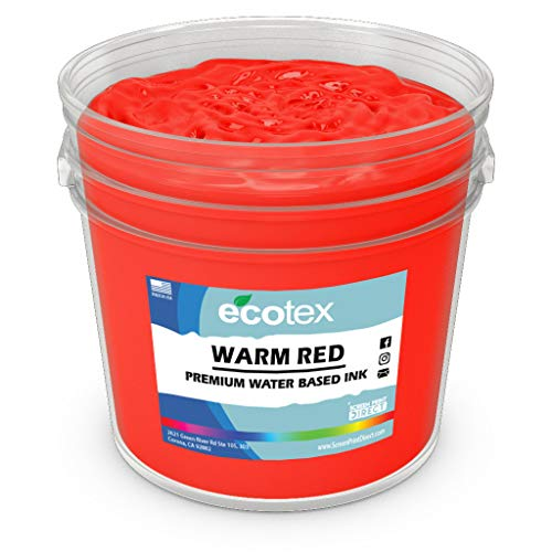 Ecotex Warm RED Water Based Discharge Ink for Screen Printing - Non Phthalate Formula for Fabric/Textiles - QUART-32 oz.