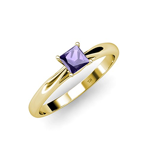 TriJewels Iolite Solitaire Ring 0.85 ct in 14K Yellow Gold.size 7 ()