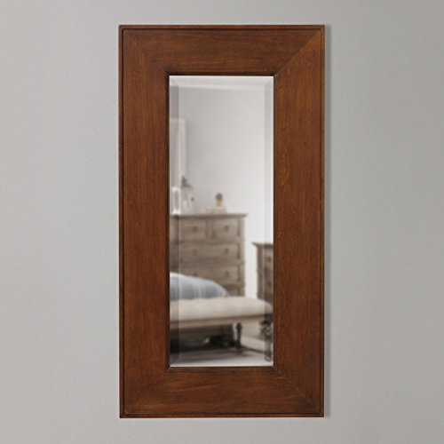 Timber Vaults, Inc Kentwood Gun Concealment Mirror, Small in Caramel Finish with RFID Lock (Caramel Medium Finish)