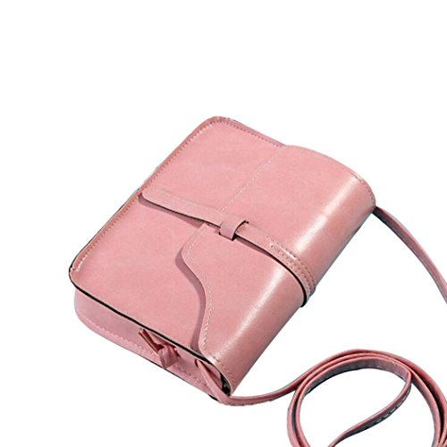 Rakkiss Vintage Purse Bag Leather Cross Body Shoulder Messenger Bag Leather Vintage Tassel Shoulder Bags (One_Size, Pink) by Rakkiss_Clearance Bag (Image #2)