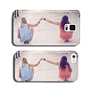summer teens girls sitting on skateboards cell phone cover case iPhone6