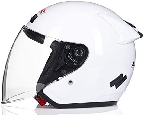 NJ ヘルメット- オートバイの電動ヘルメットの男性と女性の四季ユニバーサルサンプロテクションヘルメット (Color : White, Size : 27x25x25cm)