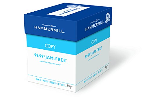 Hammermill Paper, Copy, 20lb, 8.5 x 11, 92 Bright, Letter, 2,500 Sheets / 5 Reams, (113600), Made In The USA