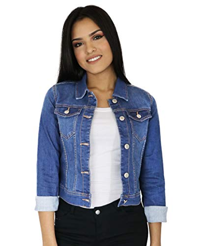StyLeUp Women's Classic Casual Vintage Denim Jean Jacket/Vest Regular & Plus Size (90017 MD 2X)