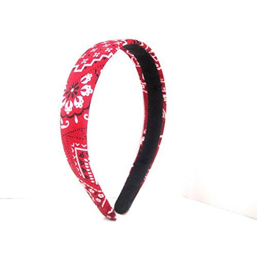 1-inch Wide Red Bandana Headband BUY 1, GET 1 Free