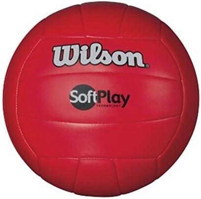 Wilson Soft Play - Balón de Voleibol para Exteriores, Color Rojo ...
