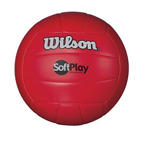 (Wilson Outdoor Soft Play Volleyball (Red))