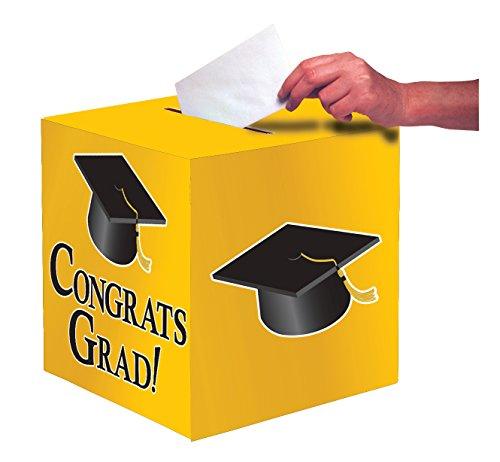 Congrats Grad Beads (Creative Converting Congrats Grad Card Holder Box, School Bus Yellow)