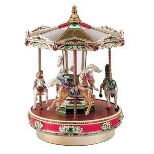 Mr. Christmas Metallic Holiday Go Round Merry Go Round Carousel