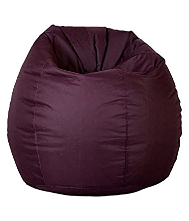 Comfy Bean Bags XXL Bean Bag Filled with Beans Filler (Maroon)