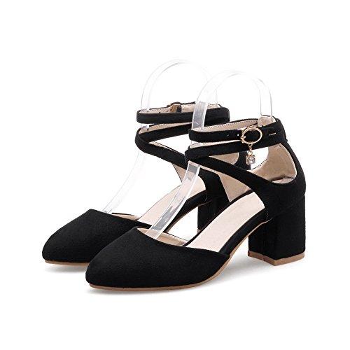 AdeeSu AdeeSu Sandales Femme Sandales Noir Compensées r0rgq8Z