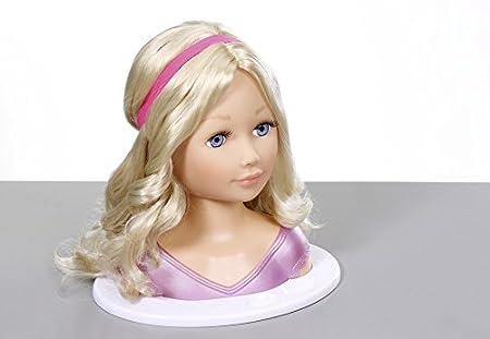 2x Puppe Styling Head Hairdressing Play Modell Set Haarschmuck Mädchen Action- & Spielfiguren