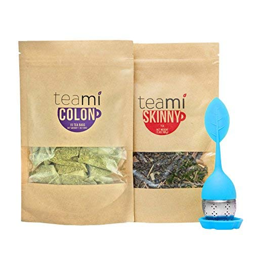 Teami® 30-Day Detox Tea Starter Pack: All-Natural Teatox Kit with Teami Skinny & Teami Colon Cleanse Loose Leaf Herbal Teas (w/Blue Infuser)